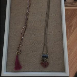 Two Chloe and Isabel pendant necklaces!
